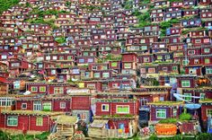 Some of thousands of monk homes at Larung Gar