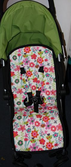Stroller liner and strap covers tutorial