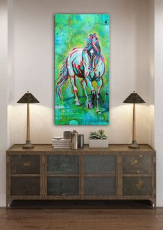 An abstract expressionistic painting of a horse. I love the freedom that I see when I watch horses run and play. Drip Painting, Unique Wall Art, Posca, Elements Of Art, Tag Art, Creative Art, Canvas Wall Art, Art Projects, Fine Art Prints