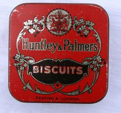 Vintage Miniature Huntley and Palmers Biscuit Tin by Tinternet Vintage Tins, Vintage Antiques, Camping Store, Tin Containers, Vintage Packaging, Vintage Typography, Tin Toys, Tin Signs, Tags