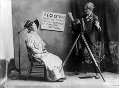The Country Photographer, ca. 1902 in Cando, North Dakota. Shows a Head Brace for long exposure wet collodion photography.