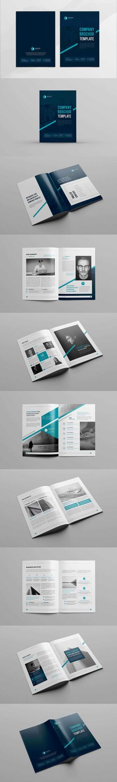 Company Profile Template InDesign INDD A4 Corporate Brochure - profile company template