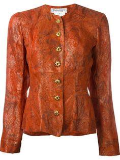 Yves Saint Laurent Vintage buttoned lurex jacket
