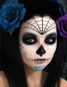 Facepaint Sugar Skull Sugar Skull Halloween, Yeux Halloween, Halloween Eye Makeup, Halloween Eyes, Halloween 2020, Fall Halloween, Halloween Party, Vintage Halloween, Facepaint Halloween