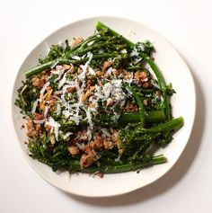 Broccoli rabe with sausage comes together in a flash; perfect for weeknight dinners.