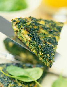 Quiche de tofu con espinacas. Come bien con Dukan - ELLE.ES