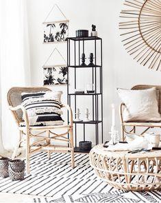 TABLE BASSE EN ROTIN On adore les accents tropicaux & le style minimaliste de cette table basse ronde en rotin signée Broste Copenhagen ..