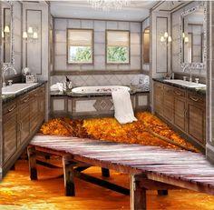 48.99$  Buy here - http://ainrs.worlditems.win/all/product.php?id=32706773917 - Custom 3d floor wallpaper brige wood waterproof 3d pvc flooring bathroom self-adhesive floor 3d photos floor
