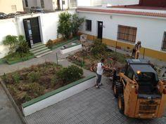 En este proyecto se modificaría por completo el patio interior de la parroquia.