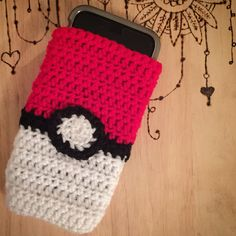 Pokemon ball handmade crochet phone case                                                                                                                                                                                 More