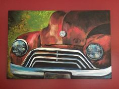 Large Antique Rustic Truck canvas art on by Lee Keller of HippieHoundUSA