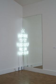 'I see myself in you' Neon, 2013 by artist Alexandra Grant. @thecoveteur