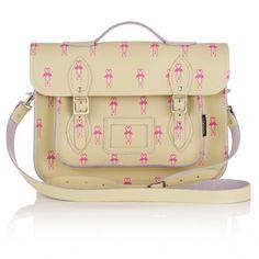 Zatchels Flamingo Leather Satchel Bag | Unique Handbags | Leather, Pretty, Big, Fashion, Unusual Handbags | Accessories | Oliver Bonas