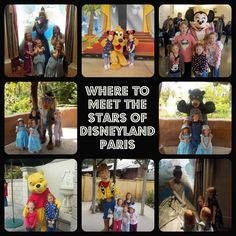 Where to meet characters at Disneyland Paris