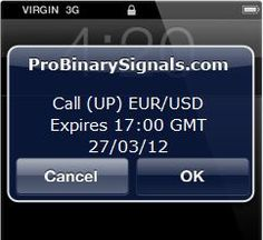 Pro Binary Signal SMS example....learn more about this service at : http://binary-options-pro.com/