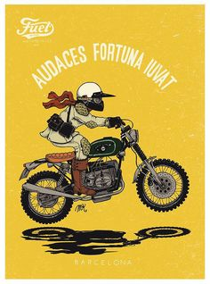 The Bullitt: Motorcycle Illustrations :: Fuel Motorcycles #motos | caferacerpasion.com