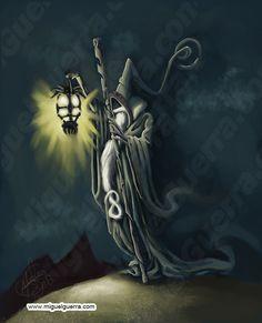 Fantasy Tarot Cards The Hermit | The Hermit by MuramasaKuroi