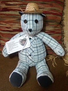 Memory Bear, made from a loved ones clothes who has passed on. absolutely beautiful (: