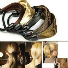 Cheap headband light, Buy Quality headband wings directly from China headband scarf Suppliers:  Korean Wig Hair Ponytail Holders Plaits Hair Circle Manual Twist Rubber Note: 5 Color in stock, Black / Silver