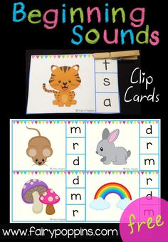 Free Beginning Sounds Clip Cards!