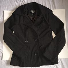 Wool pea coat EUC. only worn a few times. It's just a little to big on me. Jackets & Coats Pea Coats