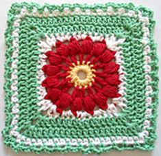 Poinsettia Square pattern by Maggie Weldon
