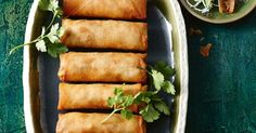 You'll go nuts for the chilli mayo on these classic spring rolls!