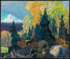 Exhibition: 'Painting Canada: Tom Thomson and the Group of Seven' at the Dulwich Picture Gallery, London – Art Blart Emily Carr, Canadian Painters, Canadian Artists, Landscape Art, Landscape Paintings, Landscapes, Franklin Carmichael, Dulwich Picture Gallery, Art Gallery Of Ontario