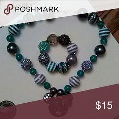Selling this Girls/Toddlers Teal/Purple Necklace/Bracelace Set in my Poshmark closet! My username is: leisalou1962. #shopmycloset #poshmark #fashion #shopping #style #forsale #Honeylambjeweljewely #Other