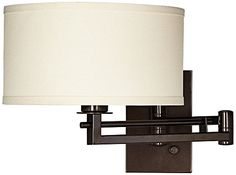 Possini Euro Aluno Bronze Swing Arm Wall Lamp Possini Euro Design http://www.amazon.com/dp/B00LA5MG0Q/ref=cm_sw_r_pi_dp_gFXIub0AG76C8