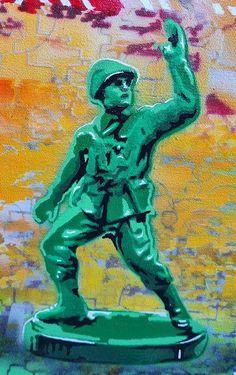 Fadiel Hermans: Lost & Found: fine art | StateoftheART South African Art, Toy Soldiers, Street Art Graffiti, Lost & Found, Canvas Size, Original Artwork, Teddy Bear, Fine Art, Gallery