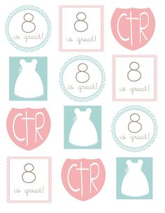 My Cotton Creations: LDS baptism ideas cute table setting ideas for 8 party