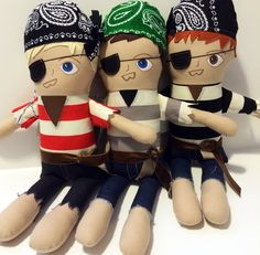 This is a custom order for a Pirate doll. Please choose the following: Hair color: Blonde, medium blonde, medium brown, dark brown or red Eye color...