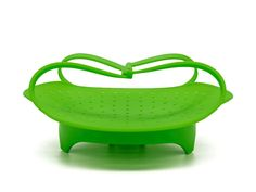 Premium Silicone Vegetable Steamers Basket - 8' - Heat Resistant Silicone - Foldable Unlike Bamboo Processor - Fits Perfectly For Microwave - Green *** Remarkable product available now. : Steamers, Stock and Pasta Pots
