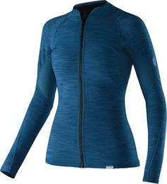 The women's NRS HydroSkin jacket is purpose-built with thin neoprene that provides additional warmth without adding bulk. This wetsuit top lets you adapt to changing conditions quickly and easily. Available at REI, Satisfaction Guaranteed. Sit On Kayak, Snowboard Equipment, Moroccan Blue, Bike Brands, Summer Sale, Kayaking, Wetsuit, Long Sleeve Shirts, Jackets For Women