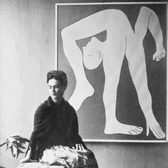 Frida Sitting in Front of a Picasso, 1931 by Manuel Alvarez Bravo. S)