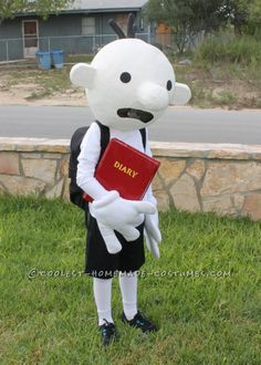 Coolest Homemade Costume Idea: Diary of a Wimpy Kid Costume ... This website is the Pinterest of costumes
