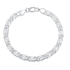 Bracelet  jewelry silver plated  Bracelet  Fashion Jewelry Bracelet Leading Shrimp Buckle 20CM Chain Free Shipping wholesale #Affiliate