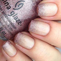 Delicate glitter gradient nail polish and nail art   Ledyz Fashions    www.ledyzfashions.com