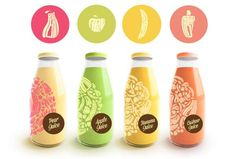 This Juice Packaging Concept Scrumptiously Combines Edible and Alphabet #juice #branding trendhunter.com