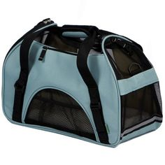 $25.47-$34.99 Bergan Comfort Carrier Soft-Sided Pet Carrier, Small, Mineral Blue - Bergan Pet Carriers are not only comfortable for your pet, but also distinctly sophisticated. The Comfort Carrier offers Pet Connect which is a zippered opening that allows you to comfort your pet during travel. Carry your pet with confidence in this Bergan soft-sided carrier. http://www.amazon.com/dp/B0015AM6YC/?tag=pin2pet-20