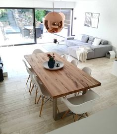 Affordable modern rustic dining room tips to decor Home Living Room, Interior Design Living Room, Modern Interior, Living Room Decor, Dining Room Design, Interior Inspiration, Home Decor, Kitchen, Sweet