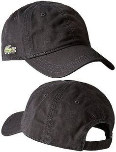 Hats 52365: New Lacoste Men S Premium Cotton Croc Logo Baseball Adjustable Hat Cap Black -> BUY IT NOW ONLY: $30.68 on eBay!