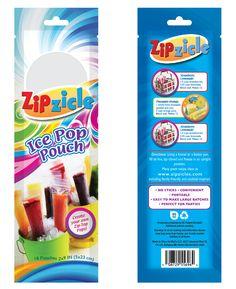 ZipZicle Ice Lollies. Packaging design. USA.