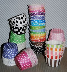 100 Polka Dot or Stripe Portion Candy Cups Nut by isakayboutique perfect for bath fizzies/bombs $20.00