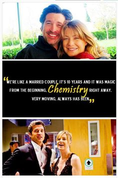 Grey's anatomy: it makes me sad that they were never a real couple in life Grey Quotes, Grey Anatomy Quotes, Grey's Anatomy, Meredith E Derek, Dark And Twisty, Greys Anatomy Cast, Patrick Dempsey, Youre My Person, Save Life