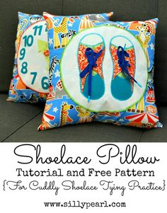 Shoelace Pillow Tutorial and Free Pattern - The Silly Pearl