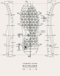 Feit Bio Trainer 1 technical drawing  The amount of technical work that goes into a pair of shoes is just amazing.