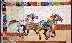 How to make horse quilt Patchwork (✁ Quilting books) Patchwork Quilting, Rag Quilt, Quilt Art, Block Quilt, Quilting Projects, Quilting Designs, Quilting Ideas, Quilting 101, Quilting Tutorials