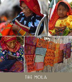 panama handmade, mola, panama art, panama folk art, kuna indian art